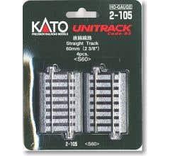 Kato #2-105 2 3/8 Straight Track (4)