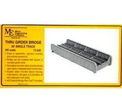 Micro Engineering HO #75-520 50' Single Track Through Girder Bridge Kit