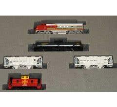 Kato #106-6271 EMD F7 AT&SF Freight Train Set (No Track or Transformer)