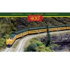 "Kato #106-104 C&NW EMD E8A and Pullman Bi-Level ""400"" Train 6-Unit Set"