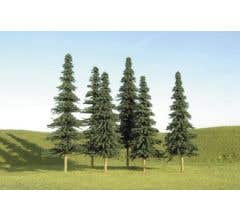 """Bachmann #32004 5"""" - 6"""" Spruce Trees (six pieces per pack)"""
