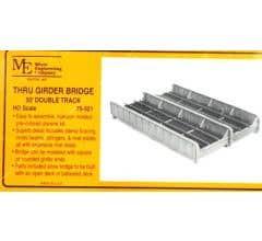 Micro Engineering HO #75-521 50' Double Track Through Girder Bridge Kit