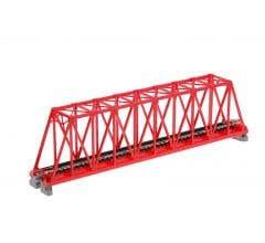 "Kato #20-430 248mm (9 3/4"") Single Track Truss Bridge, Red"