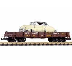 PIKO #38746 Santa Fe Flatcar w/1950 Chevy