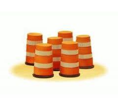 Lionel 6-32922 Highway Barrels - 6pcs