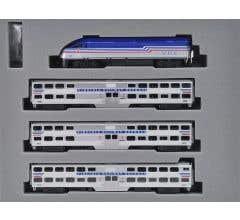 "Kato #106-8705 MP36PH Virginia Railway Express Gallery Bi-Level Commuter Train ""Starter Series"" 4-Car Set"