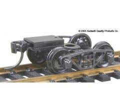 Kadee #516 HO-Scale Vulcan Double Truss Trucks and ready-to-mount metal couplers
