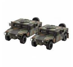 Micro Trains #49945954 Woodland Camo Humvee 2-Pack