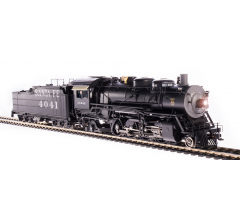 Broadway Limited #4761 ATSF 4000 Class 2-8-2 #4041 w/ road pilot Oil Tender Paragon4 Sound/DC/DCC HO