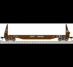 Atlas #50004861 50' Sieco Pulpwood Flat Car - CSX #408232