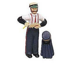 Bachmann #92313 Station Agent with Hat and Coat