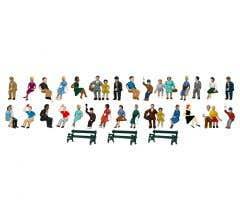 Lionel HO #1957210 Sitting Passengers Bulk Pk Figures- 50pk