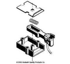 Kadee #820 Coupler Black #1-Scale Coupler Staight Centerset Shank Couplers with Standard Gear boxes