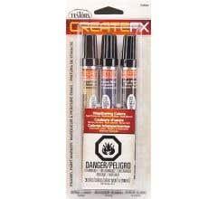 Testors #73802 FX Markers Concrete-Black-Roof Brown (3)