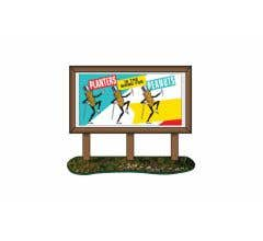 Classic Metal Works #20242 1950s Planters Peanuts Country Billboard