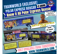 Lionel #2138230 The Polar Express Know It All Boxcar - TrainWorld Exclusive