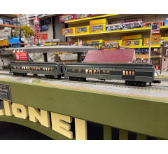 Williams #WILUP2PK Union Pacific 60' Madison/HeavyWeight Combine And Observation With lighted interior and passenger silhouettes No Box