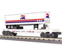 MTH 30-76782 American Freedom Flat Car w/40' Trailer