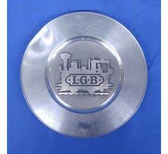LGB #lgbplate02 Train Engine Logo Pewter Plate