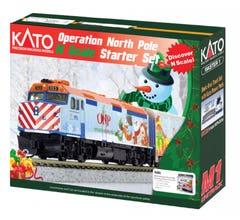 Kato #106-0045 2017 Operation North Pole Christmas Train Starter Set