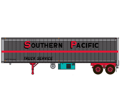 Trainworx #80229-04 Piggyback Trailer - Southern Pacific