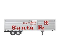 Rapido #403037 40' Fruehauf Fluted Side Volume Van - Santa Fe (AT&SF)