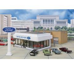 Walthers #933-3483 Wayne Bros. Ford Dealership - Kit