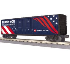 MTH #30-71047 50' Double Door Plugged Boxcar - Montana Rail Link (Essential Workers)