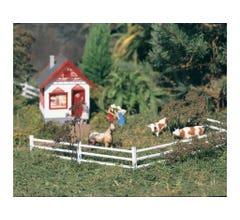 PIKO #62291 White Wooden Fence