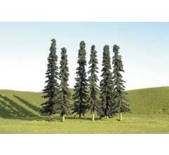 "Bachmann #32156 4"" - 6"" Conifer Trees"