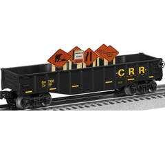 Lionel #6-84766 Gondola with Construction Signs