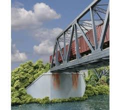 Walthers #933-4553 Double-Track Railroad Bridge Concrete Abutment 2-Pack Kit
