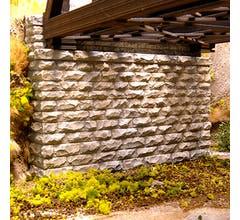 Chooch #8450 Double Cut Stone Bridge Abutment (1pc)