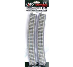 "Kato #2-241 730mm (28 3/4"") Radius 22.5º CT Superelevated Curve Track [4 pcs]"