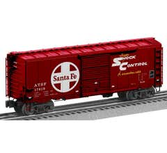 Lionel #2026120 ATSF #17819 - Flat Spot FreightSounds PS1 Boxcar