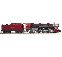 MTH #20-3814-1 4-6-2 USRA Heavy Pacific Steam Engine w/Proto-Sound 3.0 - Gulf Mobile & Ohio Cab # 580