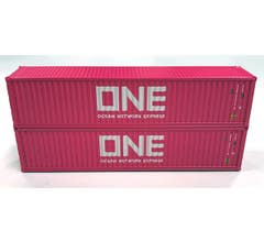Kato #80055E 40ft Container Two Pack - ONE (magenta)