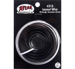 Atlas #315 Layout Wire-Black 50'
