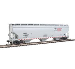 Walthers 910-7665 60' NSC 5150 3-Bay Covered Hopper - Canadian Pacific SOO #119207