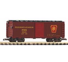 PIKO #38825 PRR Steel Boxcar- Tuscan