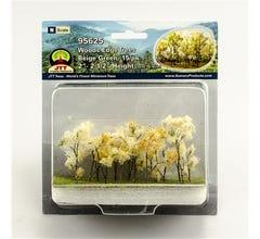 "JTT #95625 Woods Edge Trees, Beige Green, 2"" to 2.5"", N-scale, 15/pk"