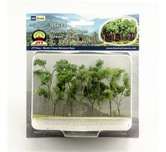 "JTT #95617 Woods Edge Trees, Green, 3"" to 3.5"", HO-scale, 9/pk"
