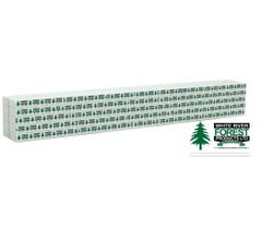 Walthers #949-3168 Wrapped Lumber Load for 72' Centerbeam Flatcar - White River Forest Products