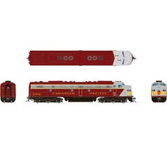 Rapido #28510 EMD E8A with DC/DCC/Sound: Canadian Pacific - Early Maroon: #1801