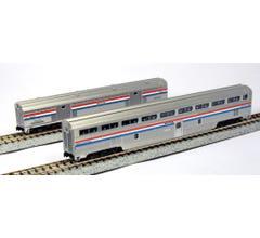 Kato #106-7122 Step-Down Coach and Baggage Car Amtrak Phase III 2-Car Set