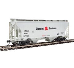 Walthers #910-7545 39' Trinity 3281 2-Bay Covered Hopper - NorRail Ciment Quebec Inc. NRLX #3
