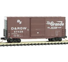 Micro Trains #10100031 Denver & Rio Grande Western - Hi Cube Boxcar