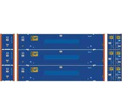 Athearn #17926 53' Jindo Container EMP (3pcs)
