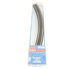 Peco #ST2031 Code 100 Double 45 Degree Curved Section (4pcs)