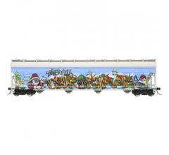 Atlas #20006330 ACF 5800 PLASTICS HOPPER DOWX [CHRISTMAS GRAFFITI] #66122